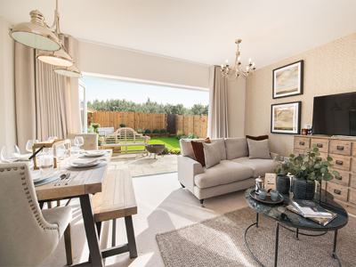 Inside a show home at Buckler's Park